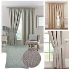 "Symphony 3"" Pencil Pleat Lined Curtains In Duck Egg, Heather, Natural & Silver"