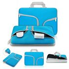 "11~15.4"" Handle Zipper Blue Sleeve Bag Case Cover for Laptop Macbook Notebook"