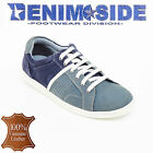 MENS SUEDE LEATHER CASUAL DENIM SIDE BLUE SHOES SIZE 6-11