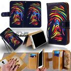 Leather Stand Flip Wallet Cover Mobile Phone Case For LG Various Models + Strap