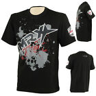 MRX Gym T-Shirts Skull Pic Training Stylish Fight Shirt Short Sleeve Top Black