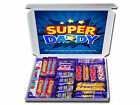 HAPPY BIRTHDAY SUPER DADDY PERSONALISED RETRO SWEETS OR CHOCOLATE GIFT HAMPERS