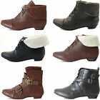 KIDS CHILDRENS GIRLS CHELSEA PULL ON FUR LOW FLAT HEEL ANKLE BOOTS SHOES SIZE
