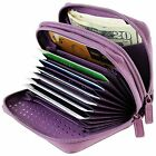 CHOICE OF 20 COLORS- Buxton Womens RFID Protected Credit Card & ID Wizard Wallet image