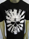 Japan Sunrise beach skull surf swim party tee shirt men's black choose A Size