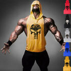 New Fitness Muscle Hoodies Shirt Cotton Sleeveless Stringer Bodybuilding T-Shirt