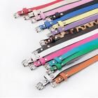 Womens Lady PU Leather Skinny Thin Narrow Buckle Waist Belt Waistband Strap a 9v