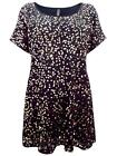 LOVELY BLACK/GOLD SCATTERED SEQUIN FRONT TUNIC - PLUS SIZE 16 - 30/32