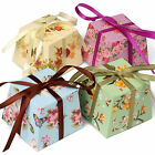 FLORAL Vintage Small GIFT BOXES Wedding Favour Chocolates | Includes Ribbon