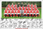 ARSENAL SIGNED PHOTO POSTER PRINT SQUAD 2016 2017 TEAM SANCHEZ OZIL WALCOTT