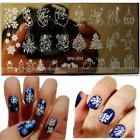 Christmas Easy DIY Nail Art Image Stamp Stamping Plates Manicure Template Gift