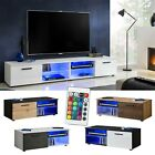 Modern entertainment console tv cabinet stand media center furniture shelf led