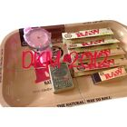 RAW Survivors Gift Set 1970's Style Small Metal Rolling tray Papers filter