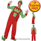 CA118 Workshop Elf Santa Helper Suit Christmas Xmas Fancy Dress Costume Outfit