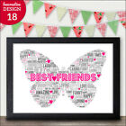 Best Friend Friendship Personalised Print Present Gift Sister Mum Daughter Gift