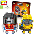 Transformers Bumblebee Starscream gift toy souvenir LOZ iBLOCK mini Lego Nano 6+