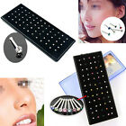 60x Crystal Nose Ring Bone Stud Surgical Steel Body Piercing Jewelry Affordable