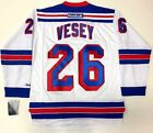 JIMMY VESEY NEW YORK RANGERS REEBOK NHL PREMIER ROAD WHITE JERSEY NEW WITH TAGS