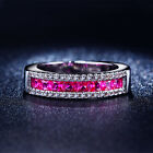 Band Fashion Women Pink Sapphire Gold Filled Engagement Size 6,7,8 Wedding Ring