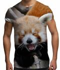 Red Panda All Over Print Cute Novelty Endangered Wild Animal Mens T Shirt S-XXL