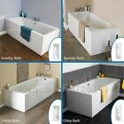 Single Double Ended Acrylic Bath Tub All Sizes Fiberglass Encapsulated Base