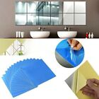 16pcs Mirrors Mosaic Tiles Self Adhesive Wall Stickers Square Decal Decoration