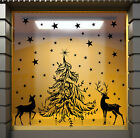 CHRISTMAS WINDOW DECORATION XMAS TREE WINDOW STICKERS XMAS RAINDEER STICKERS N11