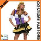 Womens Gypsy Arabian Fortune Teller Bollywood Fancy Dress Costume All Sizes