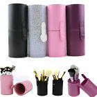 Hot Leather Makeup Storage Empty Holder Cosmetic Toiletry Cup Case Box Brush Pen