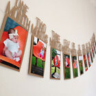 1st Birthday Girl Decorations 1-12 Month Photo Banner Monthly Photo Banner
