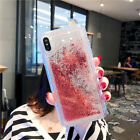 Shockproof Bling Dynamic Liquid Glitter Quicksand Soft TPU Cover Case For Phone <br/> For iPhone X 7 8 plus /For Samsung Galaxy S8/For Huawei