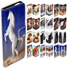 For Lumia 950XL 950 650 640 - Horse Print Flip Wallet Phone Case Cover