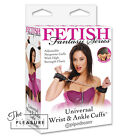 Fetish Fantasy Series Universal Wrist & Ankle Cuffs BLACK Metal Chains Neoprene