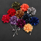 16 Style New Multi-color Men Brooches Wedding Party Fabric Lapel Pins Brooches