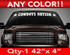 """DALLAS COWBOYS NATION WINDSHIELD DECAL STICKER 42""""w x4""""h ANY 1 COLOR on eBay"""