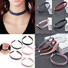 Women's Retro Leather Choker Gothic Punk Collar Necklace Charm Chain Jewelry Hot