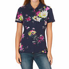 Joules Womens Trinity Polo Shirt in French Navy Floral - Sizes 8 to 20