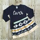 Toddler Kids Baby Girls Outfits Clothes T-shirt Tops + Skirt Dress 2PCS Sets New