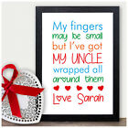 Personalised Uncle Christmas Xmas Birthday Gift Print Present Keepsake Word Art