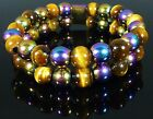 MAGNETIC RAINBOW HEMATITE TIGERS EYE BRACELET 8mm - ARTHRITIS PAIN