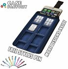 Tardis Blue Police Phone Box Fan Art - Universal Leather Pouch Phone Case Cover