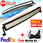 """Curved 32""""180W Combo LED Work Lamp Light Bar SUV Driving Offroad ATV 4X4+Wiring"""