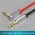 VENTION 3.5mm Male To Male 90 Degree Right Angle Flat Jack Audio Aux Cable 1.5M
