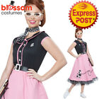 CA133 50s Sweetheart Ladies Hop Poodle Grease Poodle Bopper Fancy Dress Costume