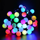 Waterproof LED Starry Fairy Ball String Lights 5M 50 Globe for Outdoor Indoor