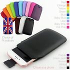 Quality Leather Slim Pull Tab Flip Pouch Sleeve Phone Case Cover for Blackberry