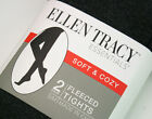 NEW Ellen Tracy Women's 2 Pair Footed Tight - Black & Heather Gray