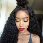 Ear to Ear Brazilian Deep Curly Vrigin Human Hair 360 Full Lace Frontal Closure
