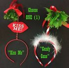 Adult Funny HOLLY MISTLETOE HEADBAND Ugly Christmas Sweater Santa Costume-CHOOSE