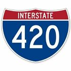 Highway 420 Funny Road Sign Marijuana Weed Car Vinyl Sticker - Select Size